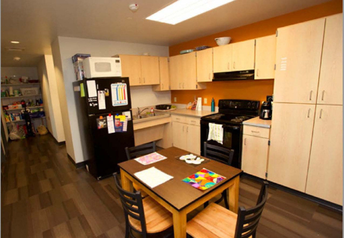 Suite kitchen, Buffalo State Student Apartment Complex